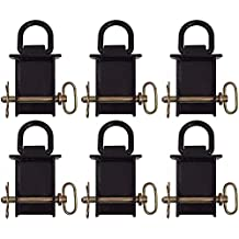 6 New Heavy Duty Flatbed Trailer Removable D-Ring Stake Pocket Rated 12,000 lbs.