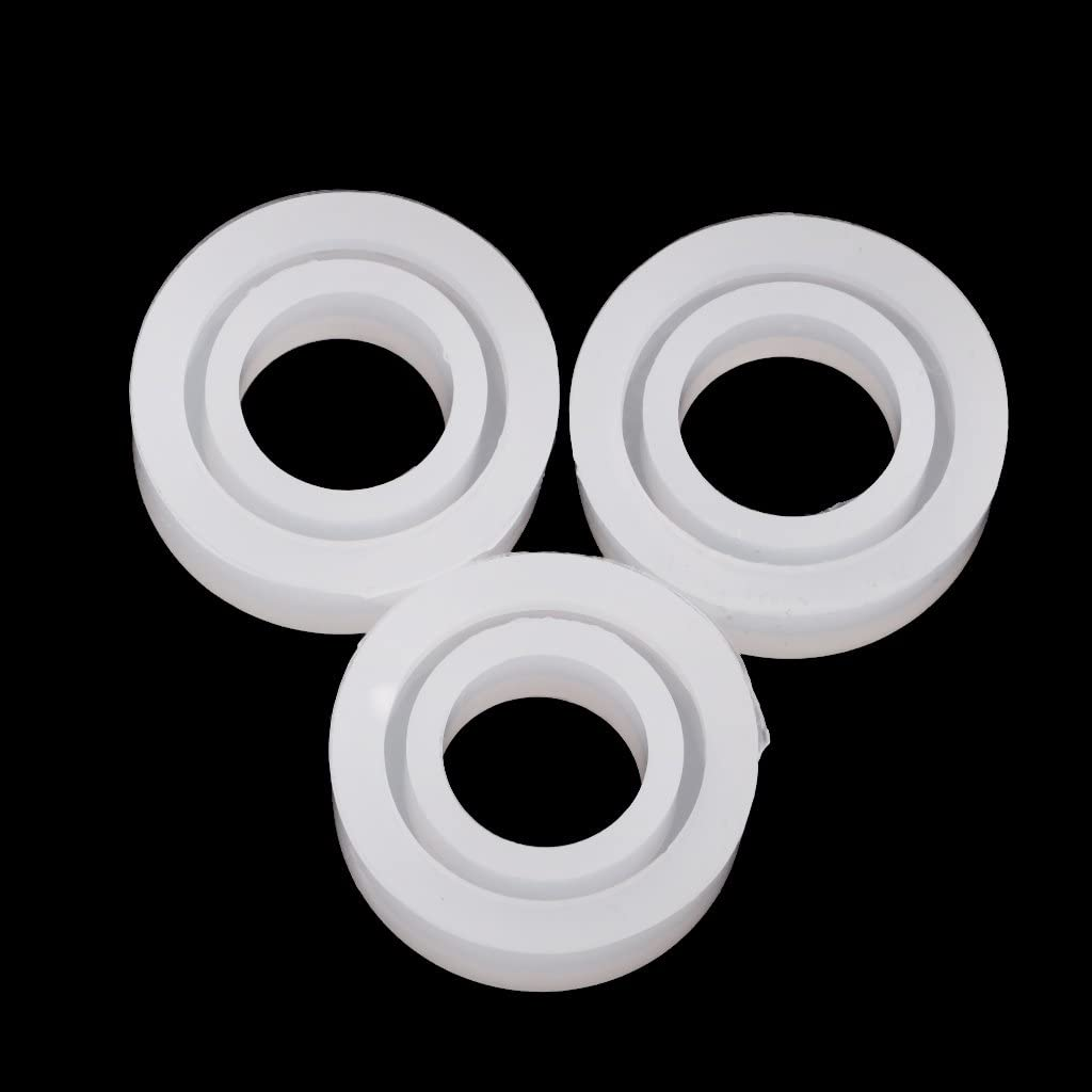 Jili Online 3 Assorted Size DIY Ring Silicone Mold Jewelry Rings Resin Casting Mould Handmade Craft Circle Shaped