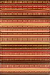 Mad Mats Stripes Indoor/Outdoor Floor Mat, 5 by 8-Feet, Warm Brown