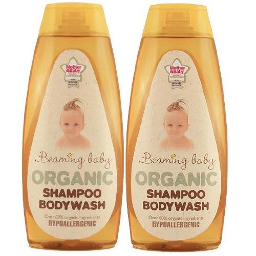 Beaming Baby Organic Shampoo and Bodywash - 2 x 250ml bottles BB70002