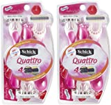 Schick Quattro Quattro for Women Disposable Razor with Scented...