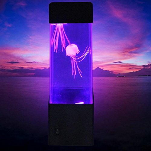 Bornbayb LED Jellyfish Lamp Table Lamp Multi Color Electric Fish Tank Gifts for Women, Men, Kids, Mood Light for Relaxation by Bornbayb (Image #2)
