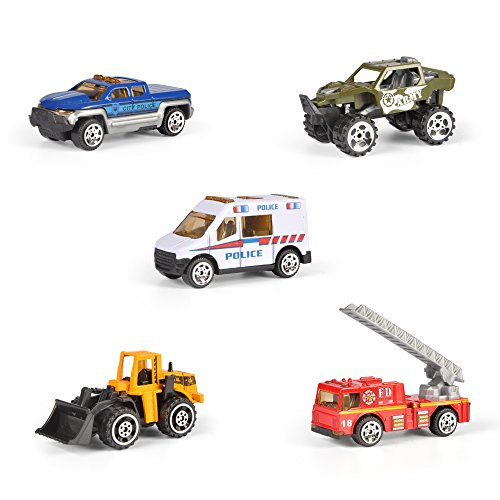 16 Piece Mini Diecast Assortment Vehicles Gift Pack Play Set