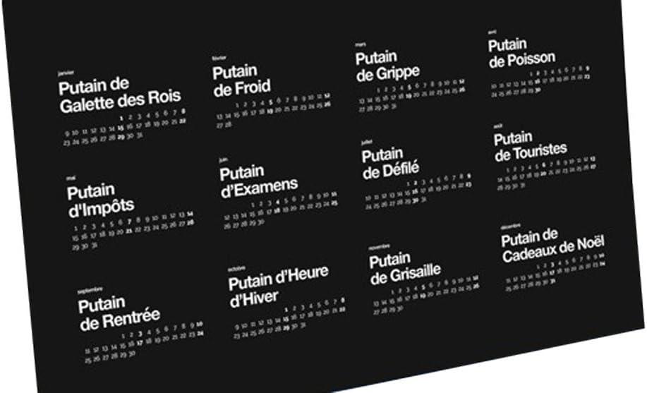Putain de calendrier 2018: Amazon.fr: Bricolage