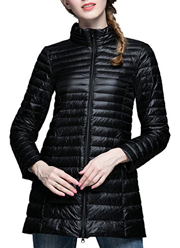 CHERRY CHICK Women's Light Weight Puffer Down Long Jacket XX-Large - Jacket Womens Cherry