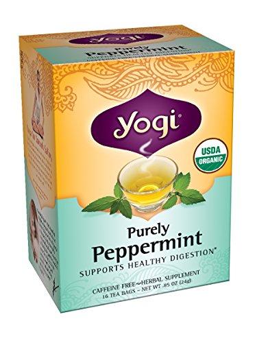 Йоги Чисто Мятный чай, 16 пакетиков, 0.85oz (в упаковке 6)