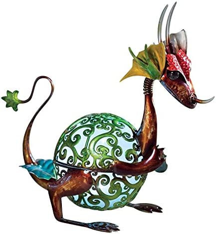 Wind Weather Solar Baby Dragon Garden Statue