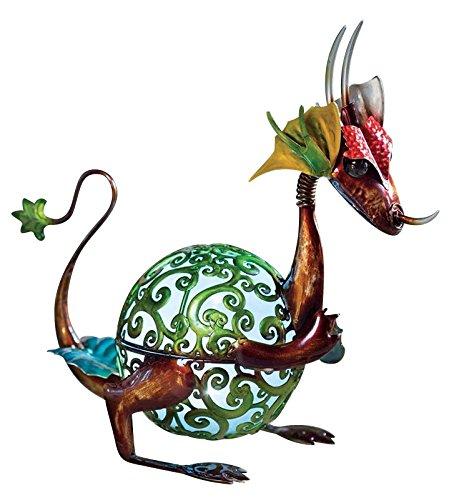 (Wind & Weather Solar Baby Dragon Garden Statue)