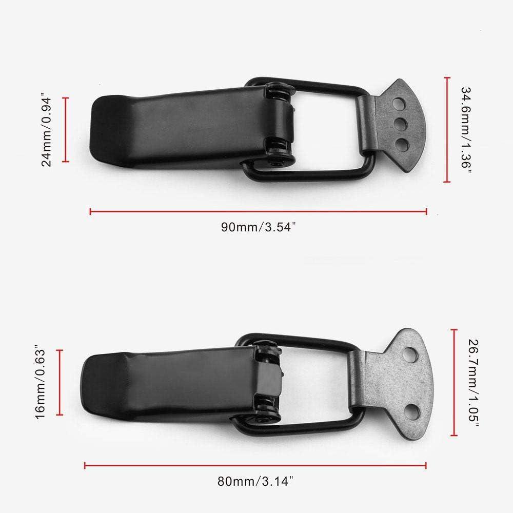 Trunk and Hatch Lids Fenders NIKF Car Bumper Security Hook Lock Clips Kit,2 set Universal Black Car Bumper Trunk Fender Hatch Lids Quick Release Fastenerfor Bumpers