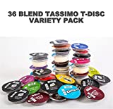 tassimo coffee discs variety - 36 Tassimo T Discs Pods Variety Pack - 1 x Each Flavour