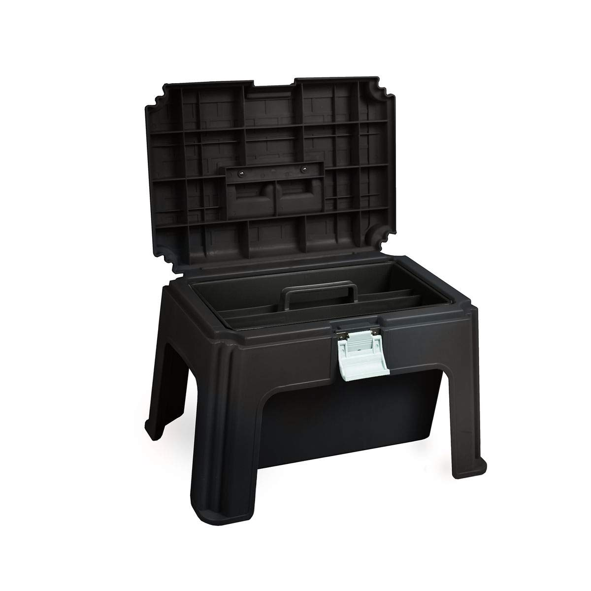 Horze Grooming Box, Stool & Mounting Block - Black by Horze