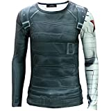 Mxnpolar Captain America 2 Winter Soldier Killer T-shirt Cosplay Costume