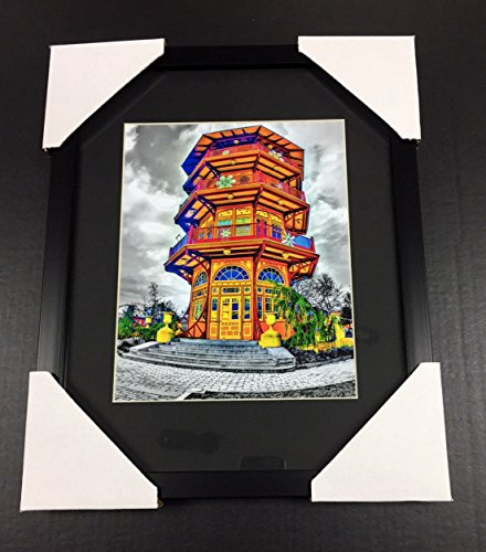 (PATTERSON PARK PAGODA BALTIMORE CITY MD 8x10 Framed Photo BY LOCAL ARTIST)