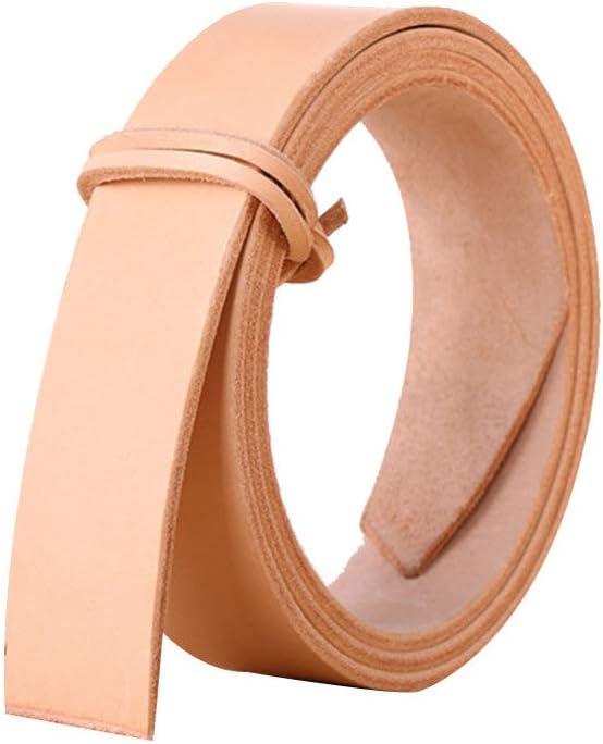 EXCEART 1 Piezas de Tiras de Cinturón de Tiras de Cuero de Cuero de Vaca Natural para Manualidades Herramientas Taller Hecho a Mano (Ancho de 2.9 Cm)