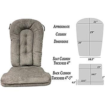 Amazon Com Glider Rocker Replacement Cushion Set Grey