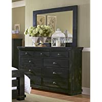 Progressive Furniture Drawer Dresser, 64 x 18 x 42, Black
