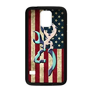 Canting_Good Browning Cutter Logo Vintage American Flag Custom Case Shell Skin for Samsung Galaxy S5 (Laser Technology)