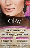 Facial Hair For Sale - Olay Smooth Finish Facial Hair Removal Duo - Medium To Coarse Hair, Box. by Olay