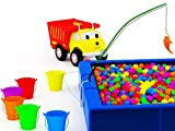 Learn colors with Ethan The Dump Truck: Fishing / Shooting Bow and Arrow