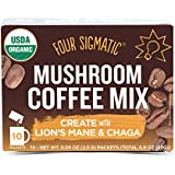 Vier Sigmatic Mushroom Coffee, USDA Organic Coffee with Lion's Mane and Chaga mushrooms, Productivity, Vegan, Paleo, 10 Count, Packaging May Vary