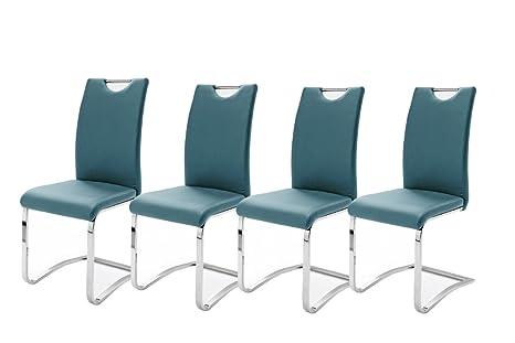Sedie Blu Petrolio : Robas lund set di sedie cantilever köln verde petrolio x