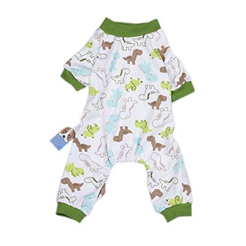 Image of WIDEN Pet Dog Pajamas Jumpsuits Puppy Clothes Cotton Cute