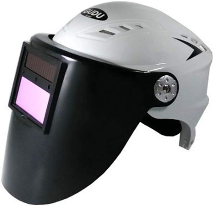 HBGGGGG Máscara de atenuación automática Máscara de Soldadura Soldadura por Arco de argón Protección contra Gases Casco de Soldadura Tapa de Soldadura Solar (Color : B)