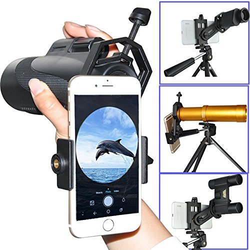 Universal Cell Phone Adapter Mount Support for Eyepiece Diameter 25-48mm - Compatible with Binocular Monocular Spotting Scope Telescope and Microscope from Beantlee