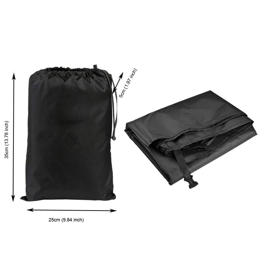 Kingwon Housse de Protection Moto Ext/érieure Imperm/éable nylon 420d Preuve De Vent avec Serrure De Trou pour Scooter,265 x 105 x 125 cm Noir