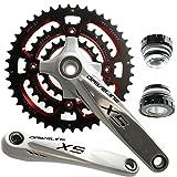 Driveline X5 Mountain Bike Crank Crankset Shimano 9 Speed 175mm