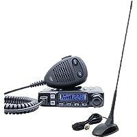 Radio CB PNI Escort HP 7120 ASQ, RF Gain, 4W, 12V y CB PNI Extra 48 Antena con imán Incluido, 45cm, SWR 1.0, Am/FM Solo…