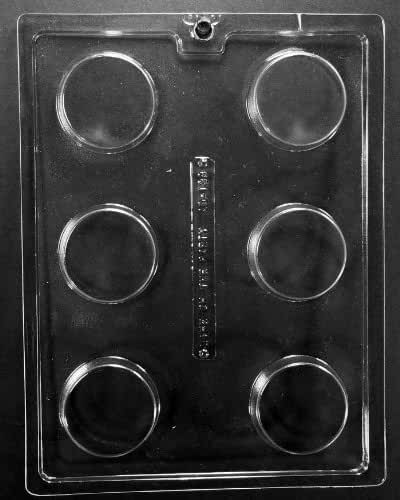 AO138 Plain Cookie Chocolate Candy Mold by Grandmama's Goodies w/instructions