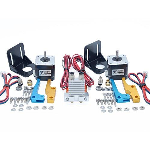 3D Printer & Supplies - 3D Printer Accessories - Dual Extruder Upgrade Kit Dual Extruder + Nema 17 Stepper Motor + Motor Bracker
