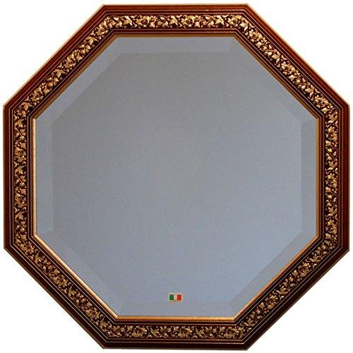 イタリア製 JHAアンティーク風水ミラー エクセレント (ブラウンゴールド) 正八角形W477×H477(デラックス:面取り加工)IE-93 壁掛け鏡 ウォールミラー B00IQO01QUブラウンゴールド