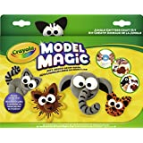 Crayola Model Magic Jungle Critters Craft Kit - Reuse or Air Dry - Soft, Squishy Air Dry Dough - Includes Shape Cutters, Cutting Tools and More - Arts and Crafts