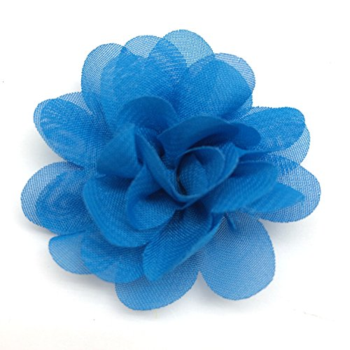 PEPPERLONELY 10PC Set Blue Fashion DIY Artifical Fabric Flowers, 2.2 Inch by PEPPERLONELY