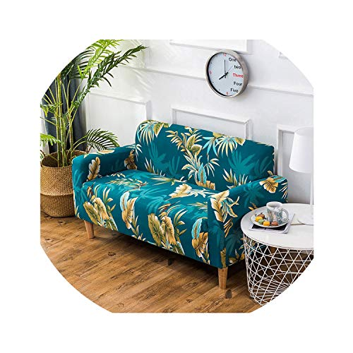 (HANBINGPO Tropical Style Universal Elastic Stretch Sofa Covers Living Room Couch Slipcovers Furniture Protector Bohemian Home Decor SC017,1,3 Seater)