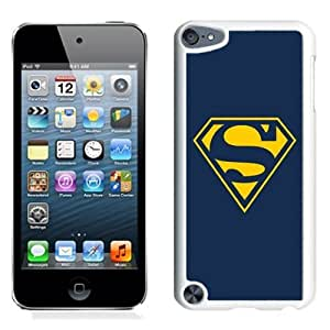 NEW Unique Custom Designed iPod Touch 5 Phone Case With Superman Yellow T-Shirt Logo_White Phone Case