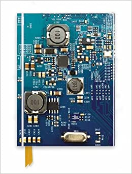 Circuit Board Blue (Foiled Journal) (Flame Tree Notebooks)