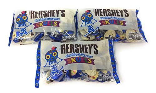 Hershey's Limited Edition Cookies 'n' Creme Skulls (Pack of 3) (Hershey's Cookies And Creme Halloween)
