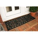 Tough Hard Wearing Outdoor Rubber Links Doormat 120cm x 60cm