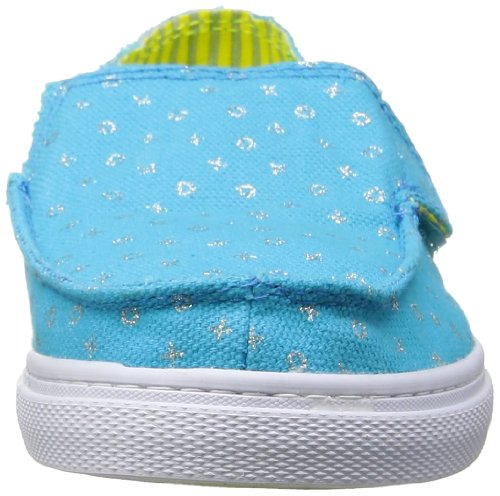 Sanuk Kids Cabrio Sparkle Sidewalk Surfer (Toddler/Little Kid/Big Kid),Ocean,6 M US Big Kid by Sanuk (Image #4)