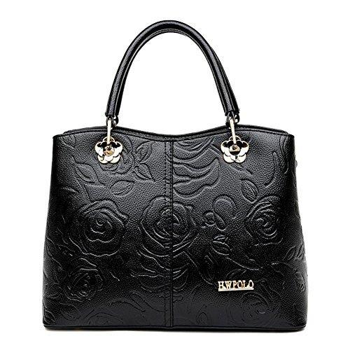 (Symbolove Womens Modern Fashion Retro Top Handle Bag PU Leather Satchel Handbag For Women-C1)