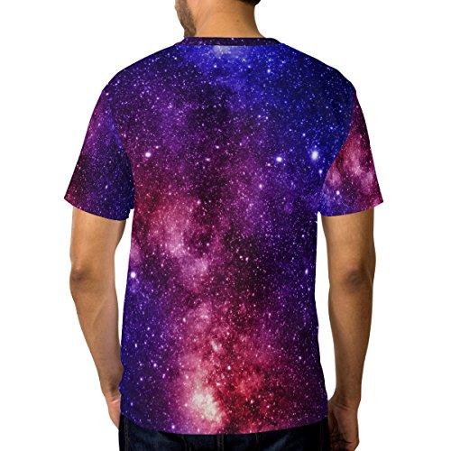 Et T Multicolore Courtes Manches Alaza Galaxy Coloré Nébuleuse Tee À Neck Casual Crew Homme shirt a1qRxqg