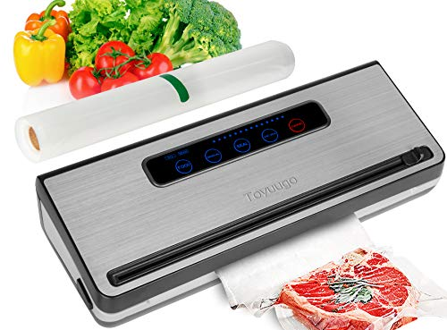 Upgraded Food Saver Vacuum Sealer Machine, ToyuugoAutomatic Vacuum Sealing System with Dry & Moist Food Modes and One Roll Starter Kitfor Food Preservation and Sous Vide