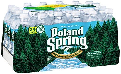 POLAND SPRING 100% Natural Spring Water, 16.9-ounce