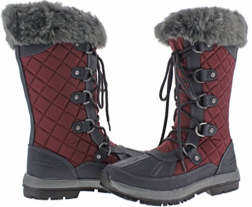 Quinevere Snow Duck Charcoal Women's Waterproof Boots Bearpaw Tall Bordeaux Toe F7qwq