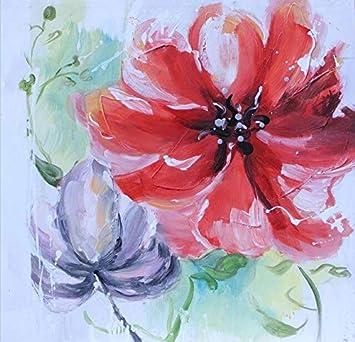 Imprimir pintura al óleo de la flor de la orquídea artística abstracta sobre lienzo moderno Pop Art Poster imagen de la pared para la sala Cuadros decoración 30x30 cm sin marco PC3954