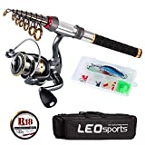 Best Compact Fishing Rod And Reels - Walsilk Telescopic Fishing Rod and Reel Combos,Fishing Poles Review