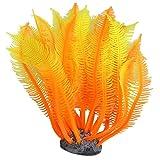 Artificial Fake Coral for Fish Tank Decor--Orange + Yellow